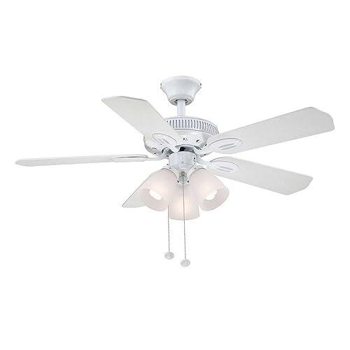 Glendale 42 in. White Ceiling Fan