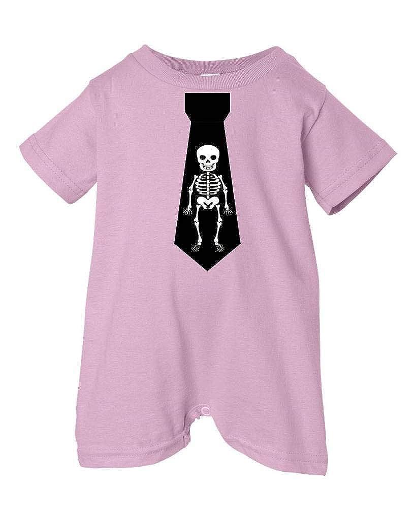 Pink, 24 Months Unisex Baby Black Skeleton Necktie T-Shirt Romper Two In Love