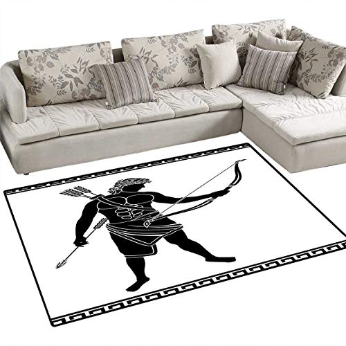 Toga Party Bath Mat 3D Digital Printing Mat Hellenic Bowman Silhouette Eros Fantasy Gladiator Old Mediterranean Print Door Mat Increase 55