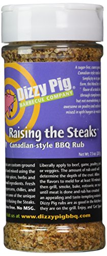 Dizzy Pig BBQ Raising the Steaks Rub Spice - 7.3 Oz by Dizzy Pig Barbeque
