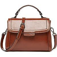 BOYATU Real Leather Handbag for Women Top Handle Bag Ladies Shoulder Purse Bag
