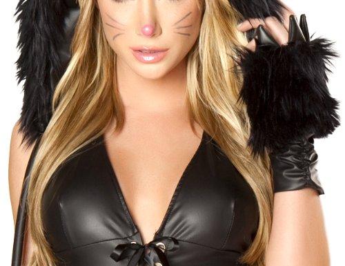 J. Valentine Women's Black Cat Claw Gloves, Black, One (J Valentine Cat Costume)