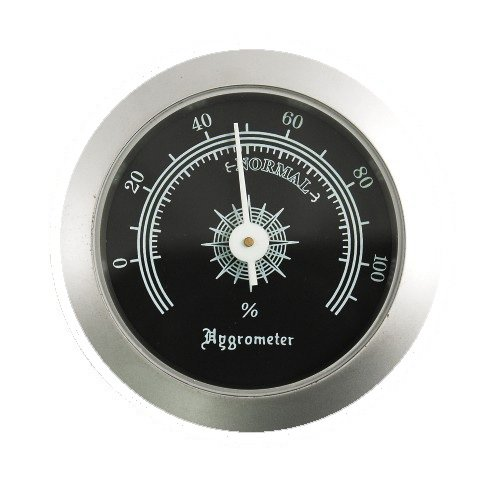 Silver Analog Hygrometer Humdity Gauge for Cigar Humidors by Quality Imports