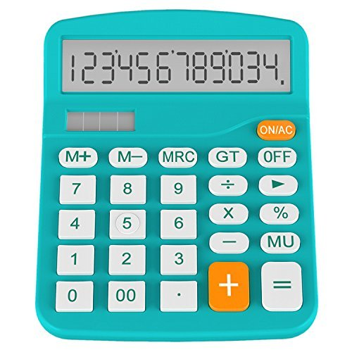 Helect H1001B-Calculator-BL Standard Function Desktop Calculator, Blue by Helect