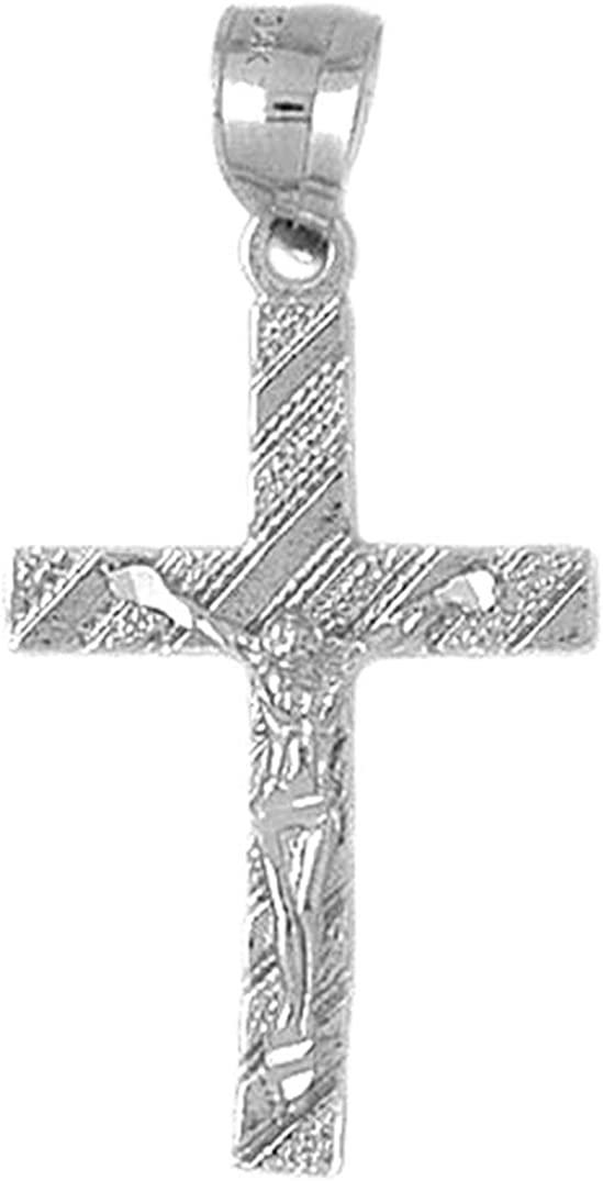 38 mm Sterling Silver 925 Crucifix Pendant Jewels Obsession Crucifix Pendant