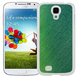 Unique and Fashionable Cell Phone Case Design with Green Leaf Texture Galaxy S4 Wallpaper in White
