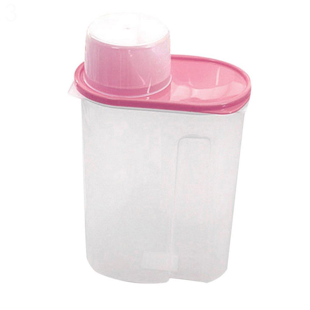 dragonaur 1,9/2.5L arroz cereales Bean seco dispensador de alimentos sellada caja de almacenamiento contenedor tapa, plástico, Amarillo, 1,9 l