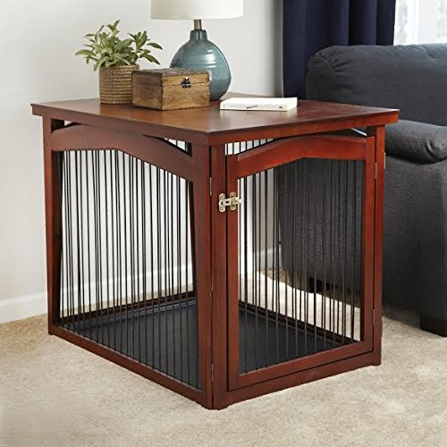When Needed, It Can Contain Your Dog In A Traditional Crate With A Door  That Locks.