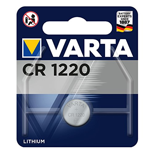 Varta VCR1220 Electronic Lithium 3V Battery for Cameras/MP3 Player and Game Boy (Blue/Silver)