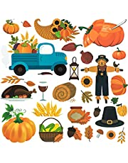 OIIKI 74 Pcs Pumpkin Patch Bulletin Board Decor Set, Thanksgiving Pumpkin Sticker Bulletin Board, Autumn Classroom Decoration Cutouts for Thanksgiving Harvest Activities, Autumn Classroom Theme