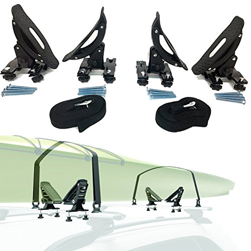 (Car Rack & Carriers Universal Saddles Kayak Carrier Canoe Boat. Surf Ski Roof Top Mounted on Car SUV Crossbar)