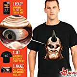 #7: Morphsuits Men's Frantically Moving Eyeball Digital Dudz Shirt