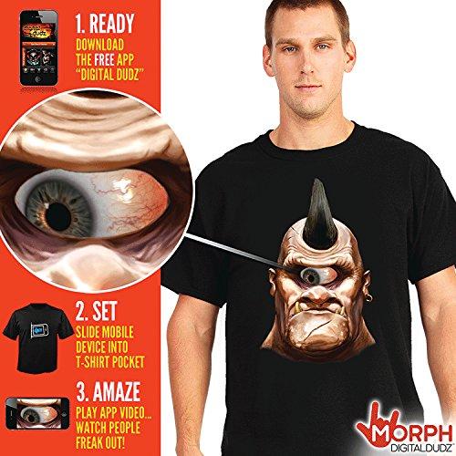 Cyclops Costume Shirt (Morphsuits Men's Digital Dudz Cyclops Shirt Halloween, Black, XX-Large)