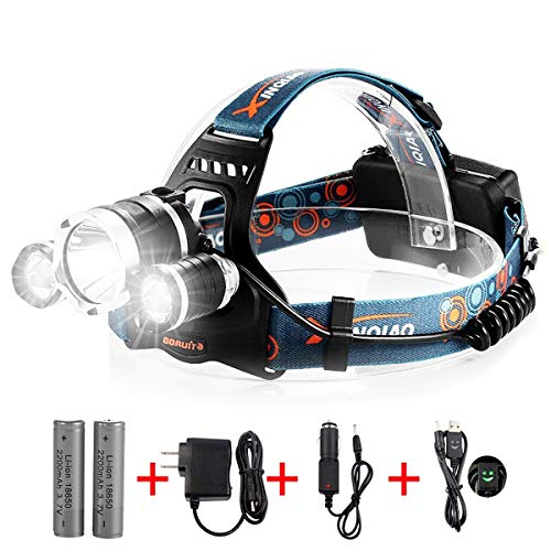 totobay Waterproof 5000Lm LED Headlamp