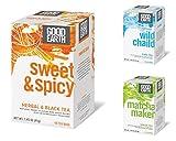 Good Earth Natural Tea Bundle: 3 Items  Sweet and Spicy Herbal Black, Wild Chaild Chai, Matcha Maker Green Tea (18 Teabags Each Box)