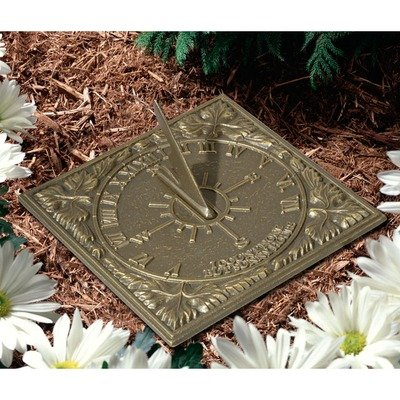 Whitehall Products Sunny Hours Sundial, French Bronze