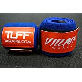 """Villain Wrist Wraps 30"""" for Powerlifting, Weightlifting, Strongman Training, Crossfit - (Blue/Red, 30 Inches)"""