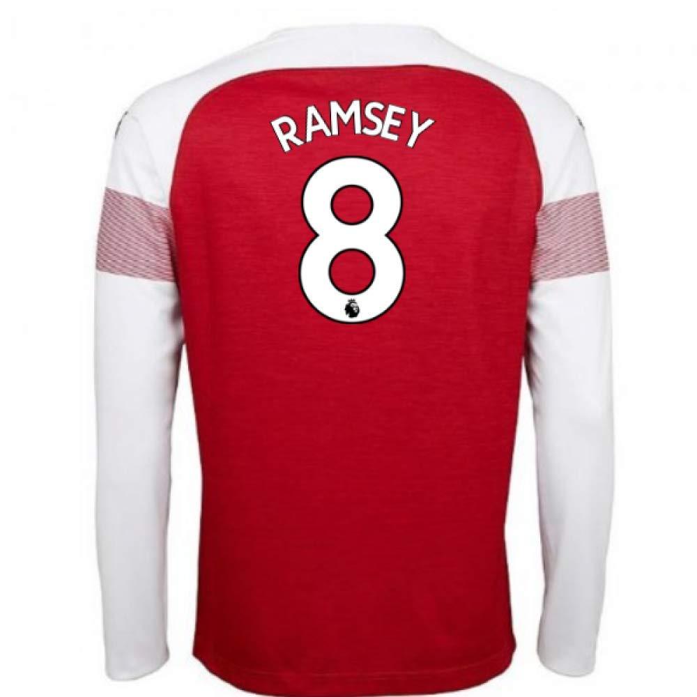 2018-2019 Arsenal Puma Home Long Sleeve Football Soccer T-Shirt Trikot (Aaron Ramsey 8)