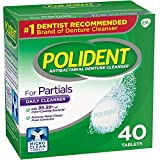 Polident Partials, Antibacterial Denture Cleanser 40 ea (Pack of 3)