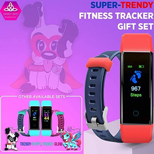 Kids Fitness Tracker for Kids Activity Tracker - Smart Watch for Android Phones iOS Digital Watch Smart Step Calorie Counter Sleep Monitor Exercise Pedometer Alarm Clock (2Bands) 2