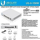 Ubiquiti Networks US-8-150W Managed Gigabit Ethernet (10/100/1000) Power over Ethernet (PoE) White network switch