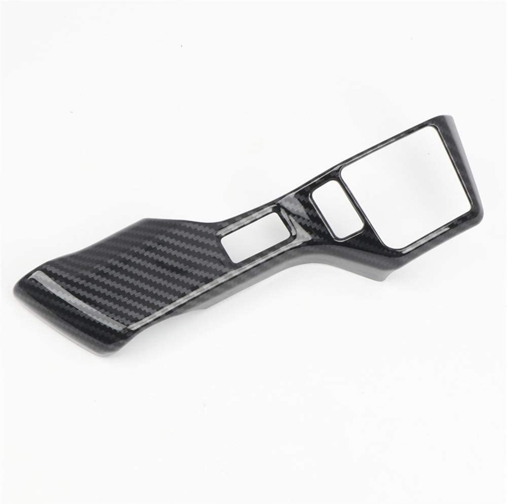 Tundra YUZHONGTIAN for Toyota Tacoma 16-19 Sequoia 18-19 Car Accessories Steering Wheel Side Switch Strip Decor Trim ABS Carbon Style 2PCS