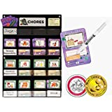 "NEATLINGS Chore System - Chore Chart for Kids | 80+ Chores for Toddlers to Teens | Customize for 1 Child | Size 18""x12.5"" 