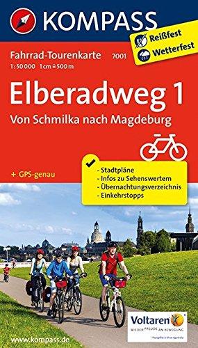 Elberadweg 1, Von Schmilka nach Magdeburg: Fahrrad-Tourenkarte. GPS-genau. 1:50000. (KOMPASS-Fahrrad-Tourenkarten, Band 7001)