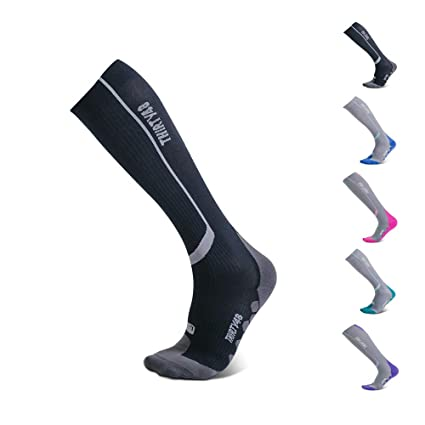 3c8b6a8af8 Thirty48 Elite Compression Socks, Graduated 20-30mmHg Compression for  Performance and Recovery, Best