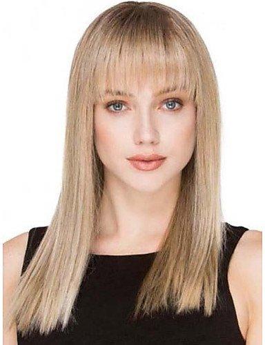 Pelucas pelucas europeos Moda pelo Bella Top Shinning monofilamento (1 pulgada) pelo remy Video