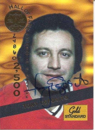 Tony Esposito 1994 Signature Rookies Gold Standard HOF Autographs #7
