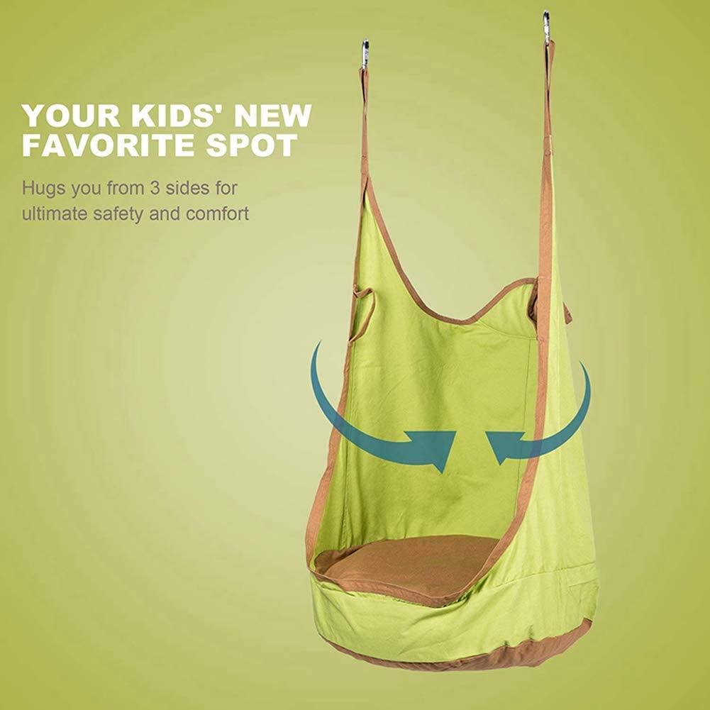 Relaxation GONGYBZ Kids Pod Swing Seat Hanging Hammock Cocoon Sensory and Autism Therapy Indoor and Outdoor Fun,Reading Nook