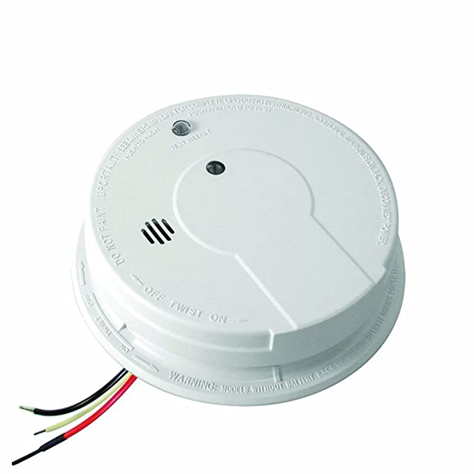 kidde i12040 120v ac wire in smoke alarm with battery backup and rh amazon com 4 Wire Smoke Alarm Broken Smoke Alarm