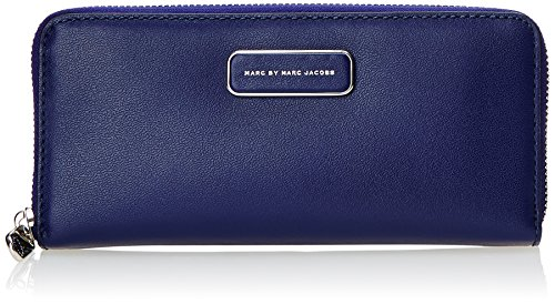 Marc by Marc Jacobs Ligero Slim Zip Around Wallet, Mineral Blue/Multi, One Size