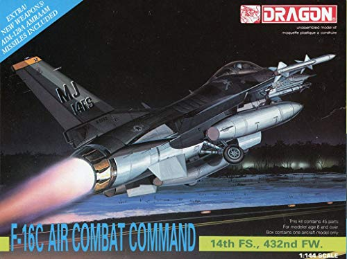 DML Dragon 1:144 F-16C Air Combat Command 14th FS 432nd FW Model Kit -