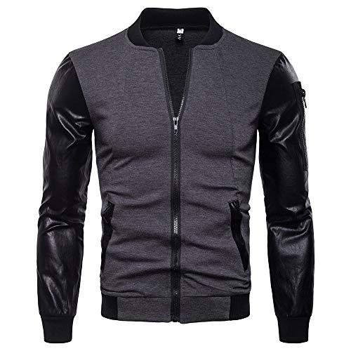 Clearance Forthery Men's Full-Zip Polar Fleece Full Zip Jacket Winter Warm Coat Outwear(Grey,US Size L = Tag XL) ()