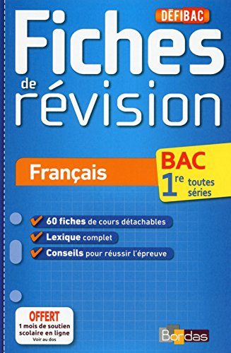 Defibac Fiches De Revision Francais 1res Telecharger Lire En
