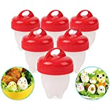 Korano Non-stick Silicone Egg Cups Set - 6 pack, Egglettes Egg Cooker,Hard & Soft Egg Boiled Maker without Egg Shell.