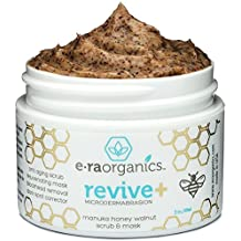 Microdermabrasion Facial Scrub & Face Exfoliator - Natural Exfoliating Face Mask with Manuka Honey & Walnut - Moisturizing Facial Exfoliant for Dull or Dry Skin, Wrinkles, Blemishes, Acne Scars & More