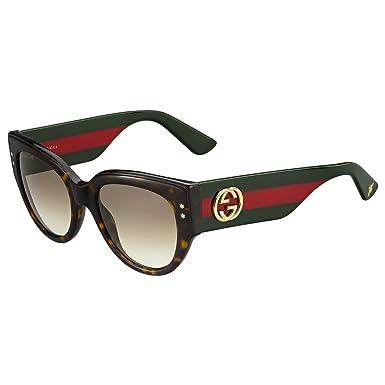 cb18f6206f5 Amazon.com  Sunglasses Gucci 3864 S 0U1D Havana Green Red   JD brown  gradient lens  Clothing
