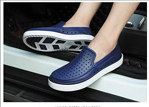Crocs hombres transpirable ocio ligero hueco antideslizante calzado casual UE tamaño 39-45 deep blue