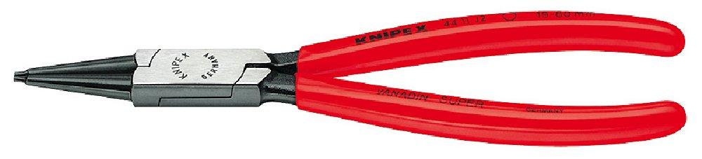KNIPEX 44 11 J2 SB Sicherungsringzange f/ür Innenringe in Bohrungen schwarz atramentiert mit Kunststoff /überzogen 180 mm in SB-Verpackung