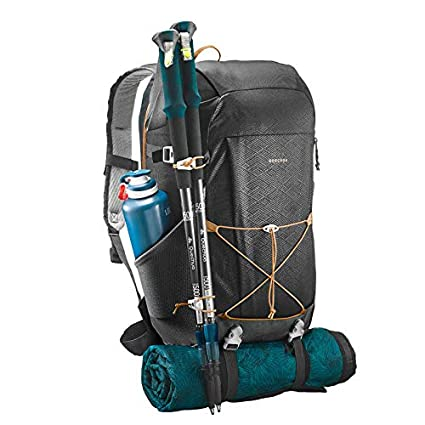 Amazon.com : QUECHUA 30-L HIKING BACKPACK - BLACK/GREY : Sports & Outdoors