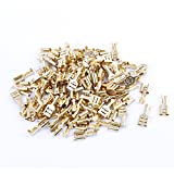 uxcell® 100 Pcs Car Speaker 6.4mm Female Spade Terminal Wire Connector