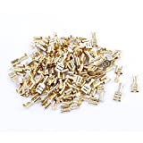 100 Pcs Car Speaker 6.4mm Female Spade Terminal Wire Connector