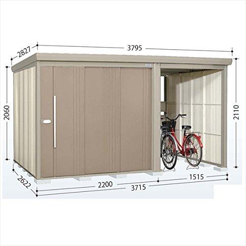 タクボ物置 TP/ストックマンプラスアルファ TP-Z3726 一般型 結露減少屋根 『駐輪スペース付 屋外用 物置 自転車収納 におすすめ』 カーボンブラウン B00V5L03E6