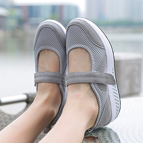 Up 1840 Fitness Jane Work Walking Toning Sneakers Out EnllerviiD Grey Mary Shoes Women Shape 78qn10