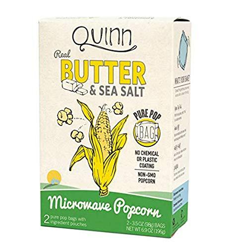 Quinn Popcorn, Butter and Sea Salt Mircowave Popcorn, 6.9 Ounce (Pack of 6) by Quinn Popcorn