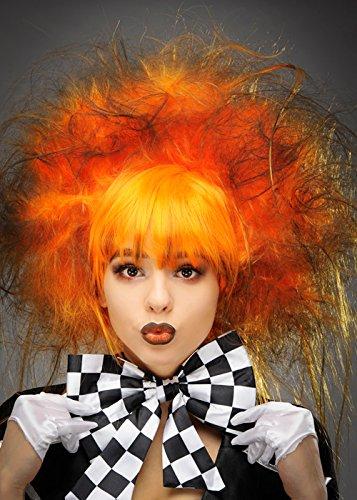Deluxe Gothic Halloween Orange Mad Hatter