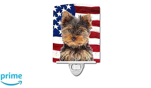Carolines Treasures USA American Flag with Yorkie Night Light 6 x 4 Multicolor